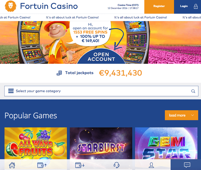 Fortuin Casino screenshot